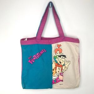 Vintage 1994 The Flintstones Bag Canvas Tote Bag
